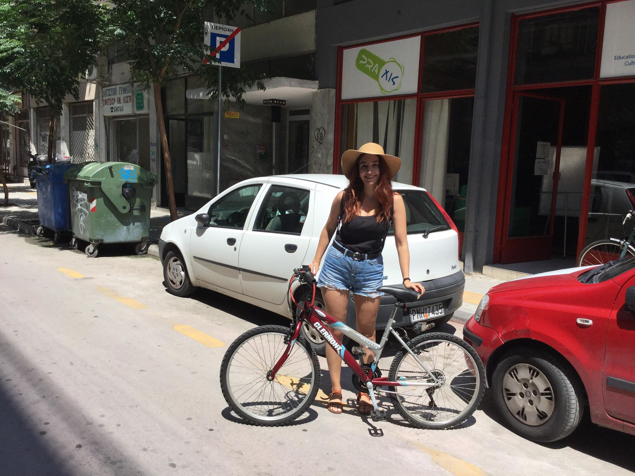 Vicky Apostola bike to Shalam